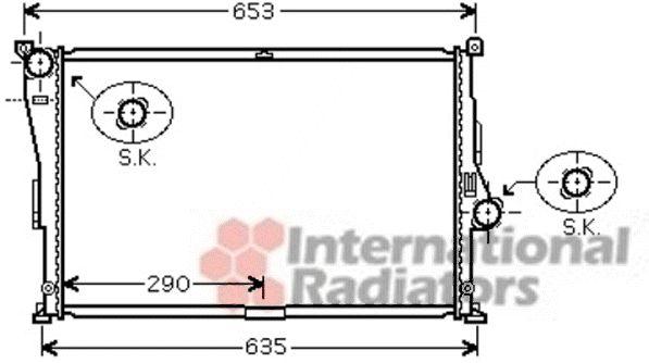 Radiateur, refroidissement du moteur - VAN WEZEL - 06002335