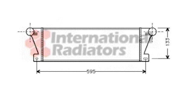 Intercooler, échangeur - VAN WEZEL - 06004177