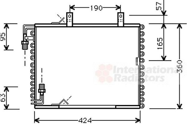 Condenseur, climatisation - VAN WEZEL - 06005147