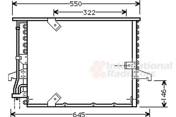 Condenseur, climatisation - VAN WEZEL - 06005180