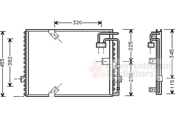 Condenseur, climatisation - VAN WEZEL - 06005187