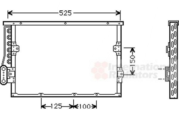 Condenseur, climatisation - VAN WEZEL - 06005191