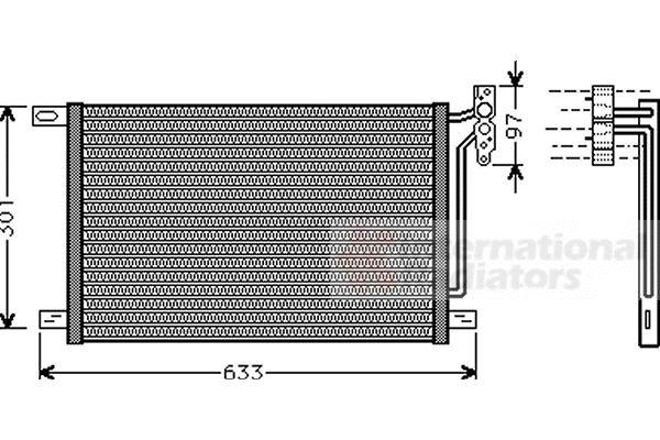 Condenseur, climatisation - VAN WEZEL - 06005215