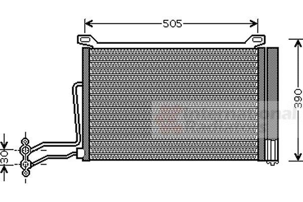 Condenseur, climatisation - VAN WEZEL - 06005264