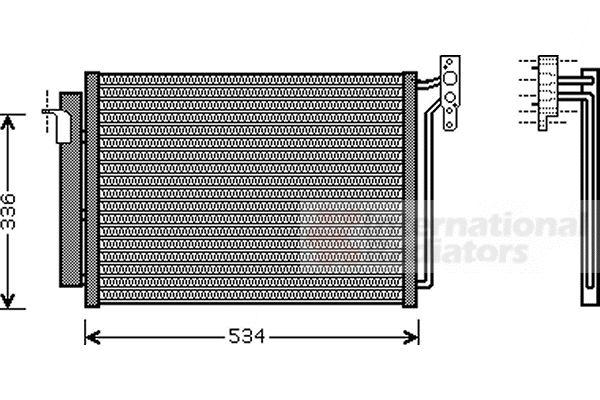 Condenseur, climatisation - VAN WEZEL - 06005281