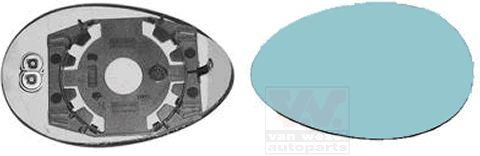 Verre de rétroviseur, rétroviseur extérieur - VAN WEZEL - 0156837