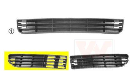 Grille de ventilation, pare-chocs - VAN WEZEL - 0314504