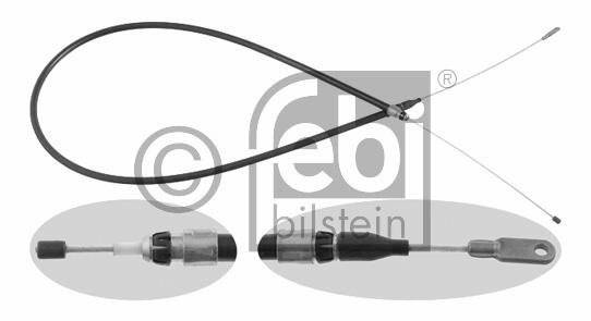 Tirette à câble, frein de stationnement - FEBI BILSTEIN - 12351