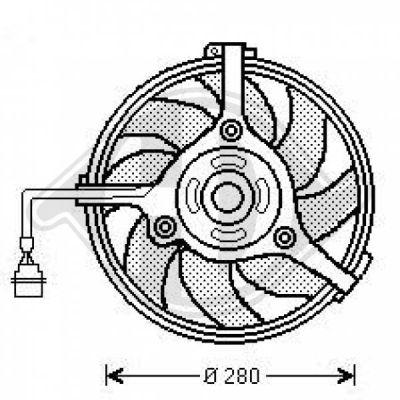 Ventilateur, refroidissement du moteur - DIEDERICHS Germany - 1025001