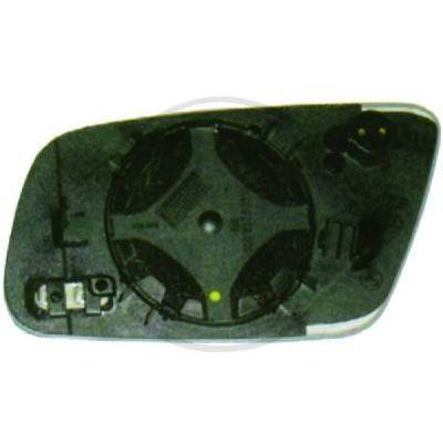 Verre de rétroviseur, rétroviseur extérieur - DIEDERICHS Germany - 1025029