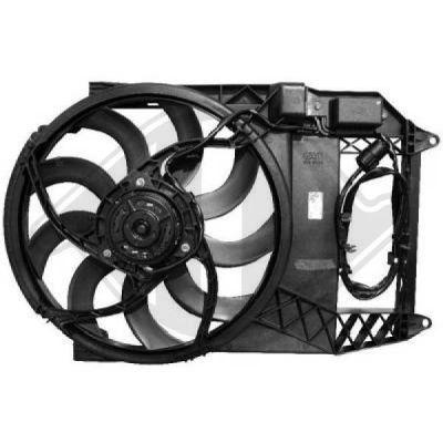 Ventilateur, refroidissement du moteur - DIEDERICHS Germany - 1205301