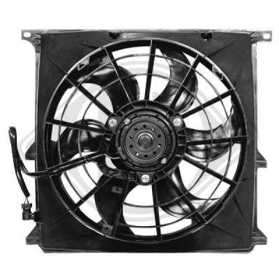 Ventilateur, condenseur de climatisation - DIEDERICHS Germany - 1213101
