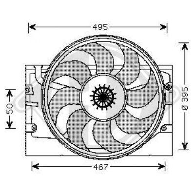Ventilateur, refroidissement du moteur - DIEDERICHS Germany - 1213301