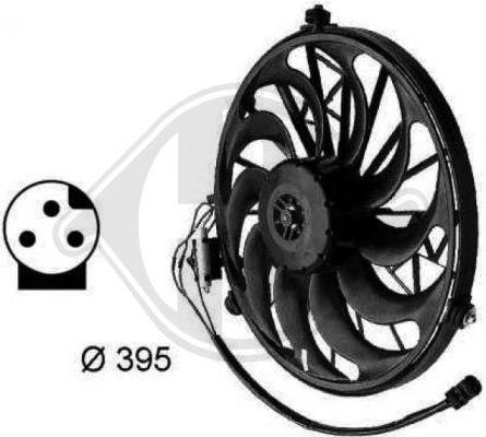 Ventilateur, condenseur de climatisation - DIEDERICHS Germany - 1213401